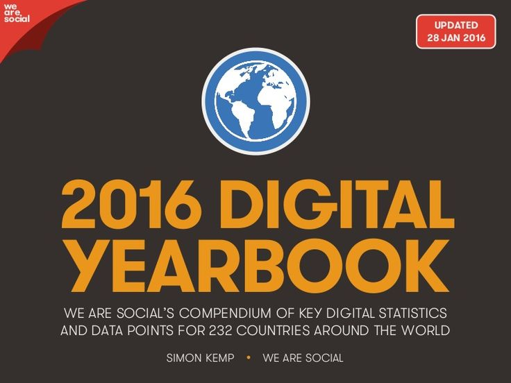 This companion report to We Are Social's comprehensive new Digital in 2016…
