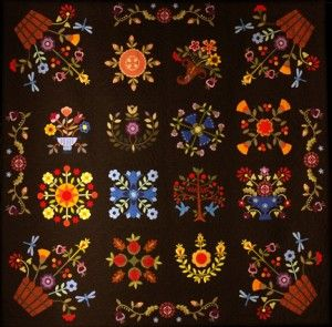 West of Baltimore block of the month, ©2006, Annie Smith. The quilt was featured in the Keepsake Quilting catalog for 2 1/2 years, and chosen for Elly Sienkiewicz's Baltimore Album Revival exhibit for quilts.com 2010-2012. It has been around the world, and patterns are still available at www.simplearts.com.