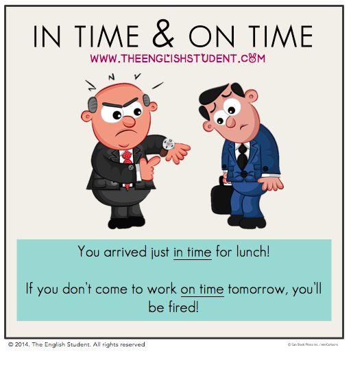 ESL, teaching, prepositions, in and on, ESL time, ESL teaching ideas, ESL tenses Learn more @ www.theenglishstudent.com
