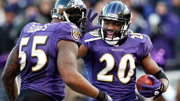 Ed Reed and Terrell Suggs