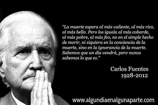 """15 de mayo de 2012 #TalDíaComoHoy falleció el escritor mexicano Carlos Fuentes, autor de """"La muerte de Artemio Cruz"""""""