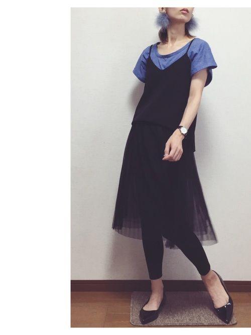 GUのチュールレギンススカート、激安で190円になってました!!! ビックリ価格‼️✨ 黒を購入😊