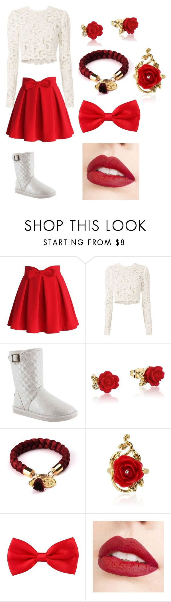 """Untitled #44"" by moriartylauren on Polyvore featuring Chicwish, A.L.C., Bearpaw, Disney and Jouer"