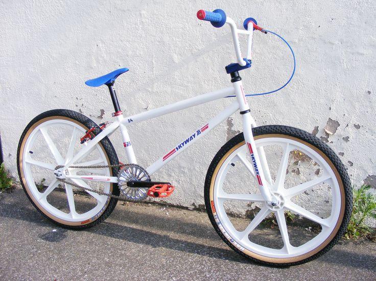 Skyway T/A 24 Custom White/Red/Blue - Alans BMX