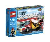 Get to your action stations! There's a fire in LEGO® City and the firefighters need to rush to the scene in their amazing Fire Truck! Connect the hose, extend the ladder and suit up in firefighting gear. Then it's time to grab an axe, climb the ladder and extinguish that fire! Includes 2 firefighter minifigures with assorted accessories. : : http://www.reallygreatstuffonline.com/lego-city-fire-truck-60002-by-lego/