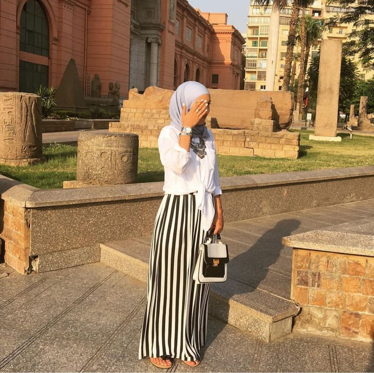 Striped maxi skirt - check out: Esma <3