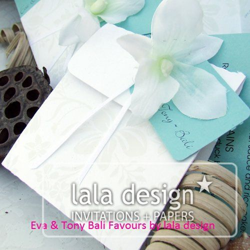 White flower envelope