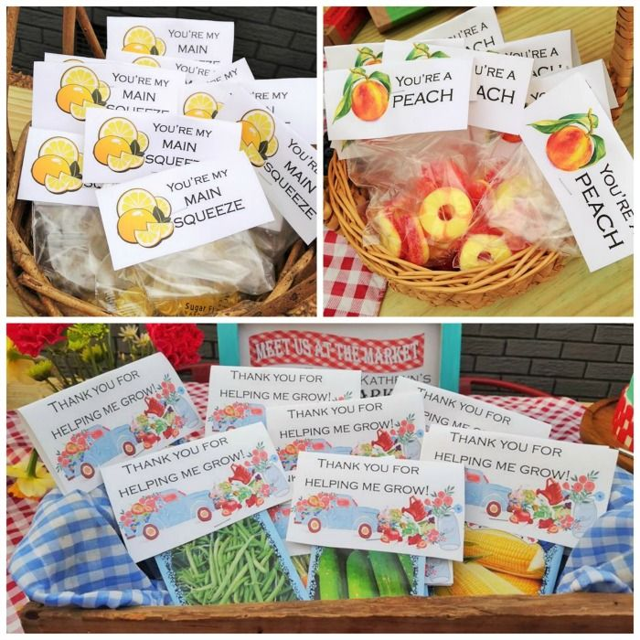 Party favors for farmer's market party theme