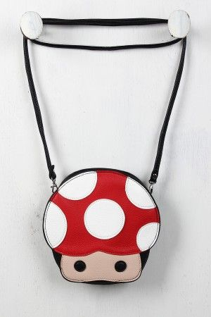 Mushroom Character Bag - this would make the perfect gift for my bff. she loves video games!