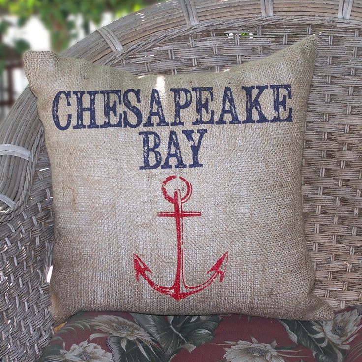 Destination Chesapeake Bay Burlap Pillow 46 best