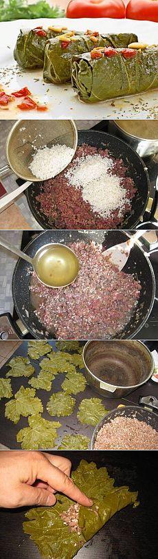 Долма - пошаговый кулинарный рецепт с фото. / Простые рецепты