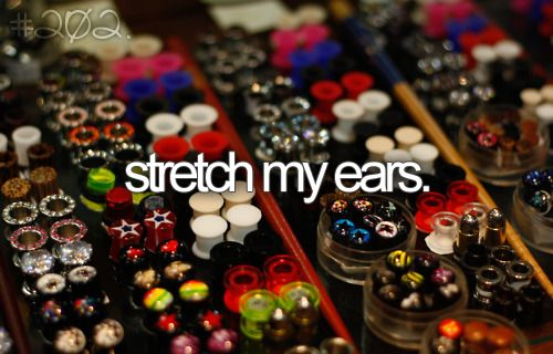 Bucketlist, Ears Stretchers, Buckets Lists, Piercing, Body Modifications, Plugs Stretchers, Stretch Lobesplug, Tattoo, Gauges