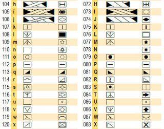 Вязальные шрифты для Excel