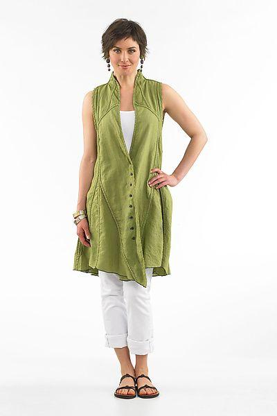 Gigi Vest: Cynthia Ashby: Linen Vest - Artful Home