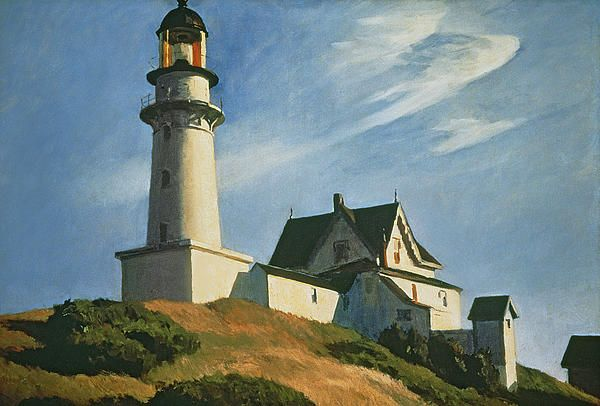 The Lighthouse at Two Lights; 1929 (oil on canvass) by Edward Hopper