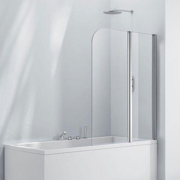 £165, Frontline Aquaglass+ Double Folding Bath Screen