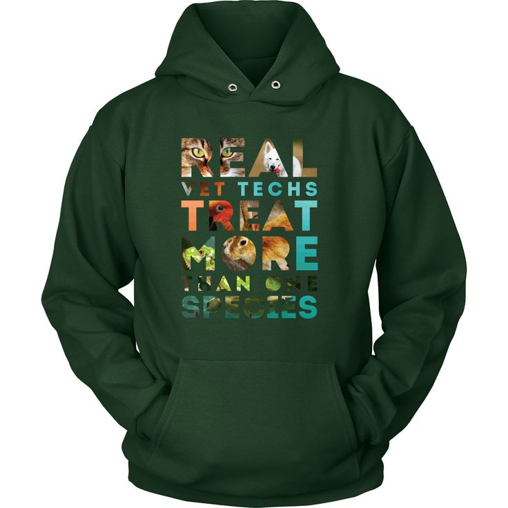Real Vet Techs treat more than one species Veterinarian T-shirt