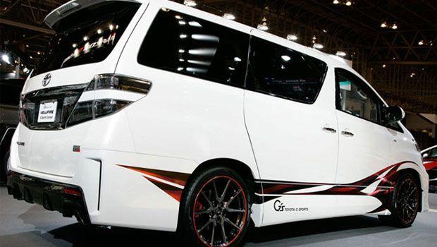 Modifikasi Toyota Alphard Vellfire Sport Warna Putih