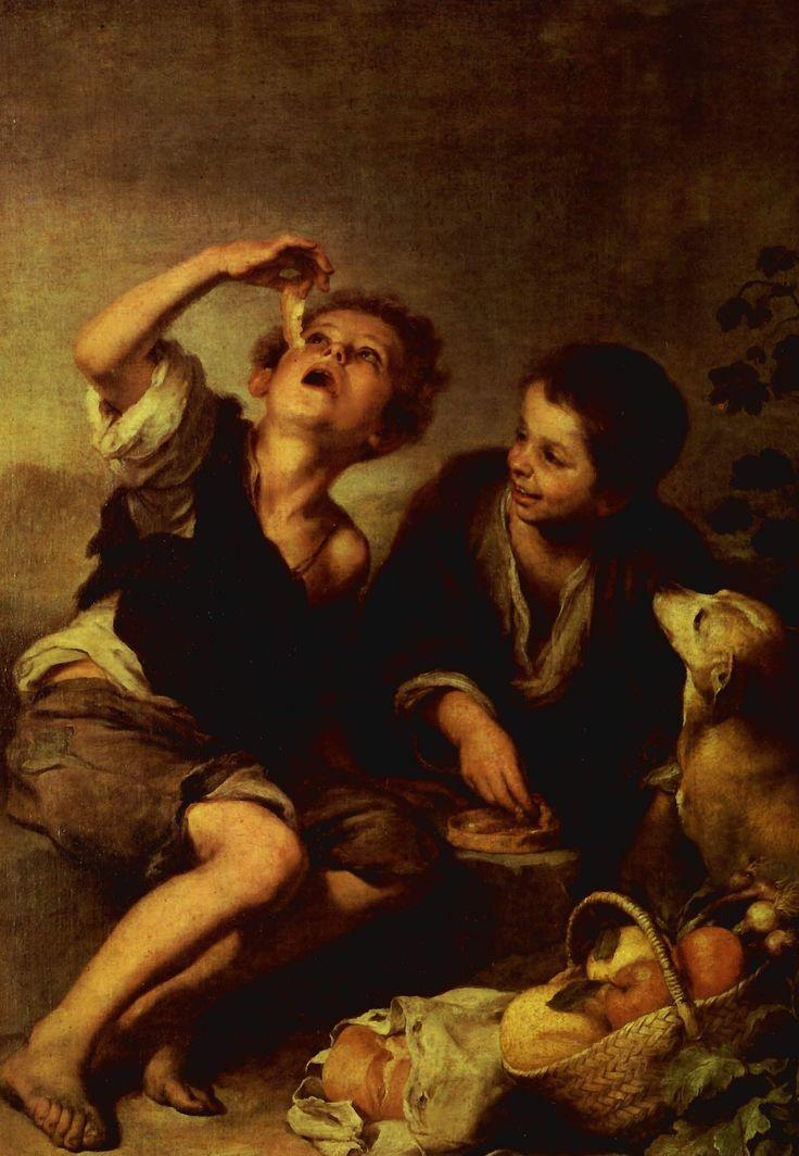 Bartolomé Esteban Murillo - Niños comiendo.