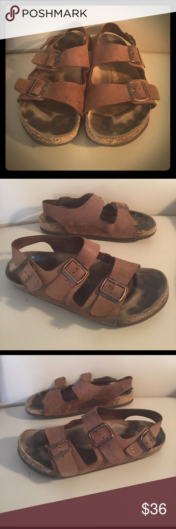 Men's 10 Birkenstock Sandals Brown Men's Birkenstock sandals size 10. Good used condition, with some wear on the backs of the heels and toes, please see pictures. Lots of life left! Birkenstock Shoes Sandals & Flip-Flops