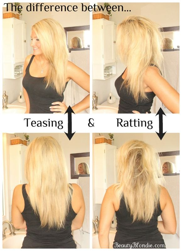 An Awesome Tutorial on how to teas your hair the right way!