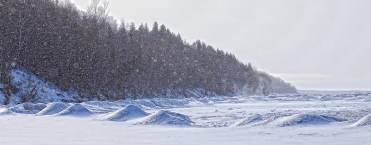 Bayfield winter Lake Huron