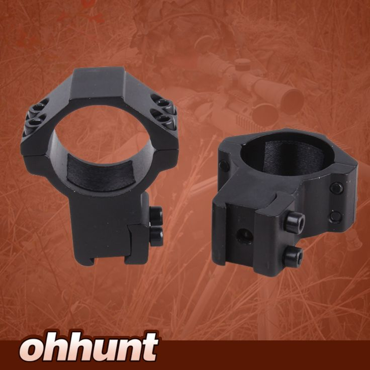 Ohhunt Hunting Tactical Accessories 30mm 2PCs High Profile Airgun Rings w/Stop Pin Dovetail Rings 11mm Rifle Scope Mount Rings