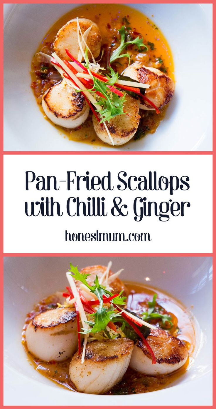 Pan-Fried Scallops with Chilli and Ginger