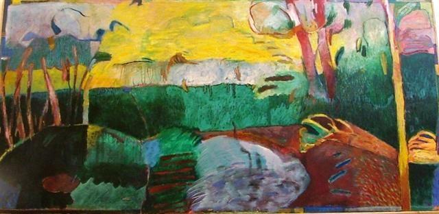 JEROEN KRABBE: schilderde de tuin van Louis van Dijk in Dalfsen. Een impressie van de tuin in lente, zomer, herfst en winter