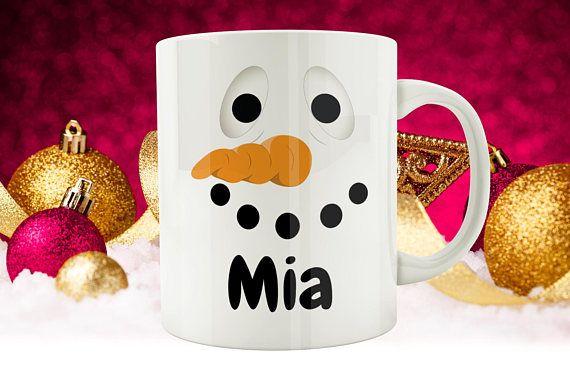 Snowman Christmas Mug #Personalised #Snowman #Mug #Custom #Christmas #Mugs #Xmas #Gifts #Kids #XmasIdeas #CoffeeMug #NameMug #sunnydazestudio #etsy #etsyuk #etsyseller #etsyukseller #etsygift #handmade #etsyshop #giftideas #giftidea #giftguide