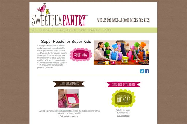 Create's Site of the Month for March 2014, Sweetpea Pantry.