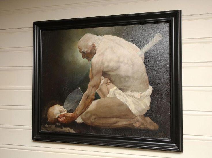 """INSPIRERTE NERDRUM:  """"Mann med dødninghode"""", malt i 1938, da Roka var 26 år gammel."""