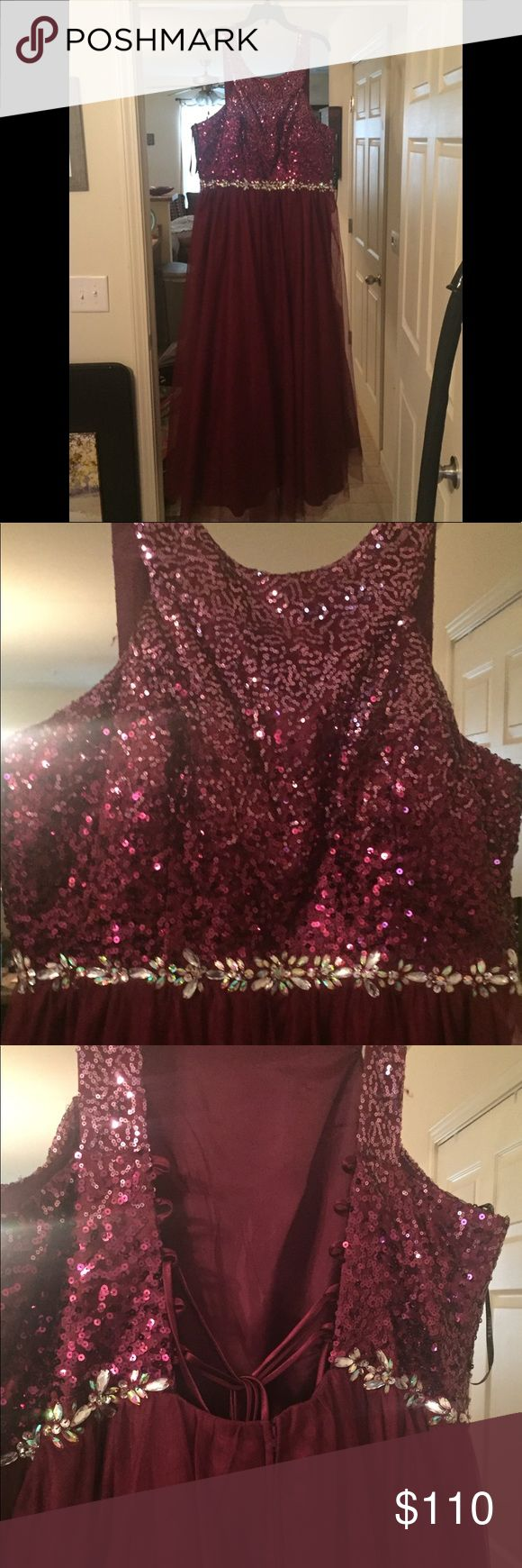 Masquerade brand prom dress! Size 20 Gorgeous Masquerade brand prom dress! Size 20. Only worn for a few hours for a masquerade/dinner party.  Perfect for any special occasion! Masquerade Dresses Prom