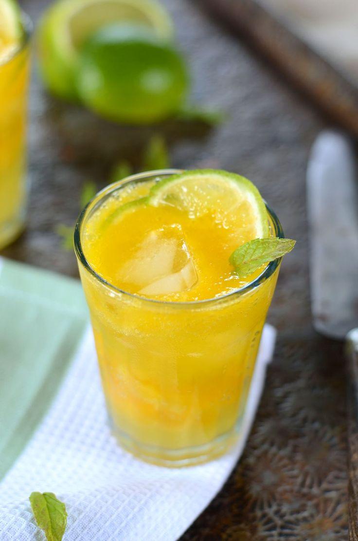 Mocktail à la mangue, gingembre et citron vert