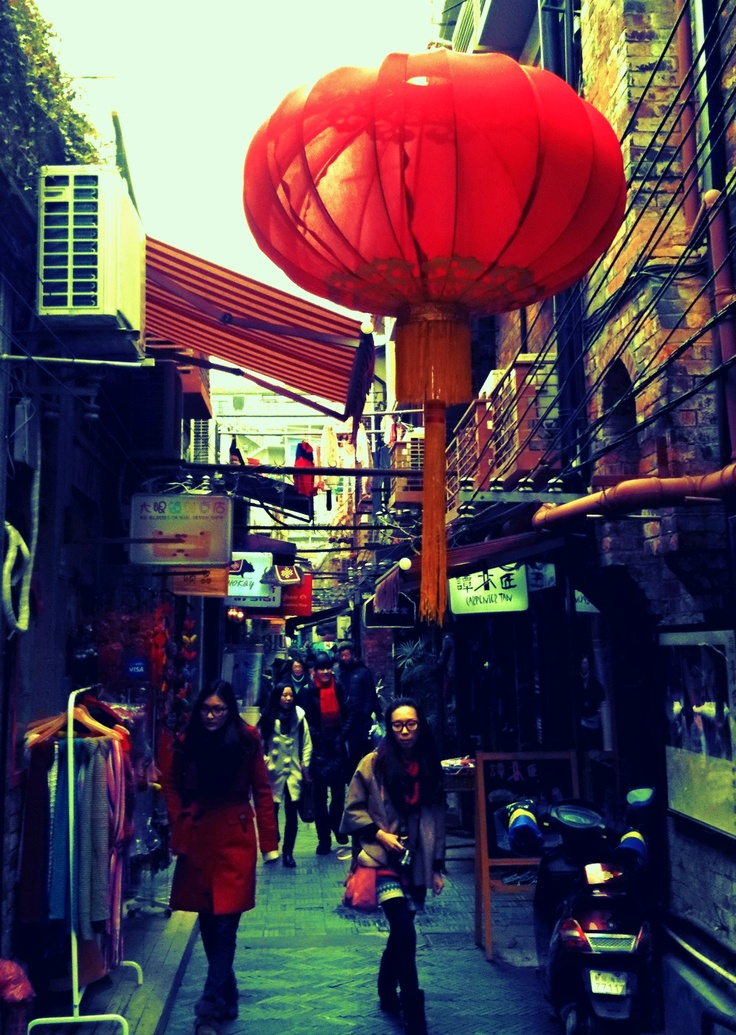 streets and red lanterns