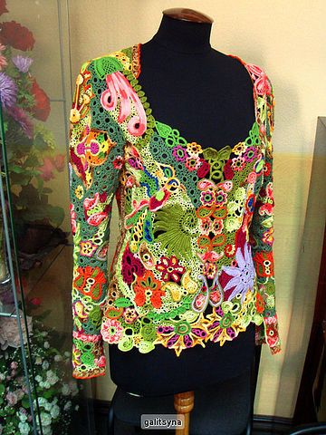 Fiber+Art+Wearable+Freeform+Crochet+Jacket