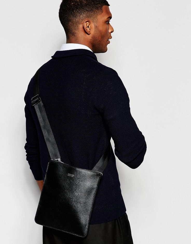 Image 3 ofHugo Boss Digital Saffiano Leather Flight Bag