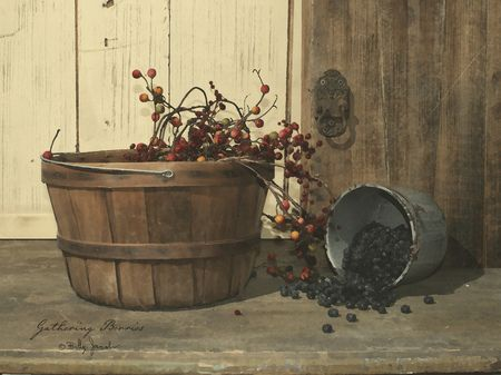 image detail for gathering berries by billy jacobs art print framed unframed at