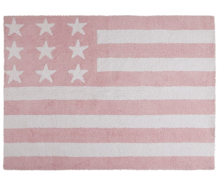 The United States flag will add a 'Bostonian' style to your baby's room!this rug is perfect for a girl's or boy's nursery and its pleasant blue background color helps to create a very relaxing mood.
