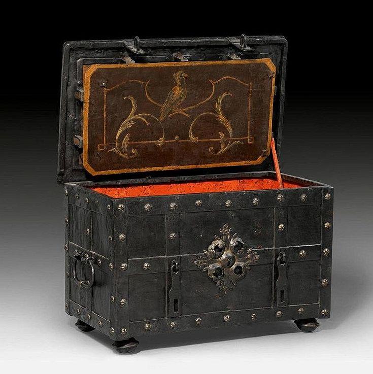 Baroque heavy iron strong-box. Italian, ca.1700