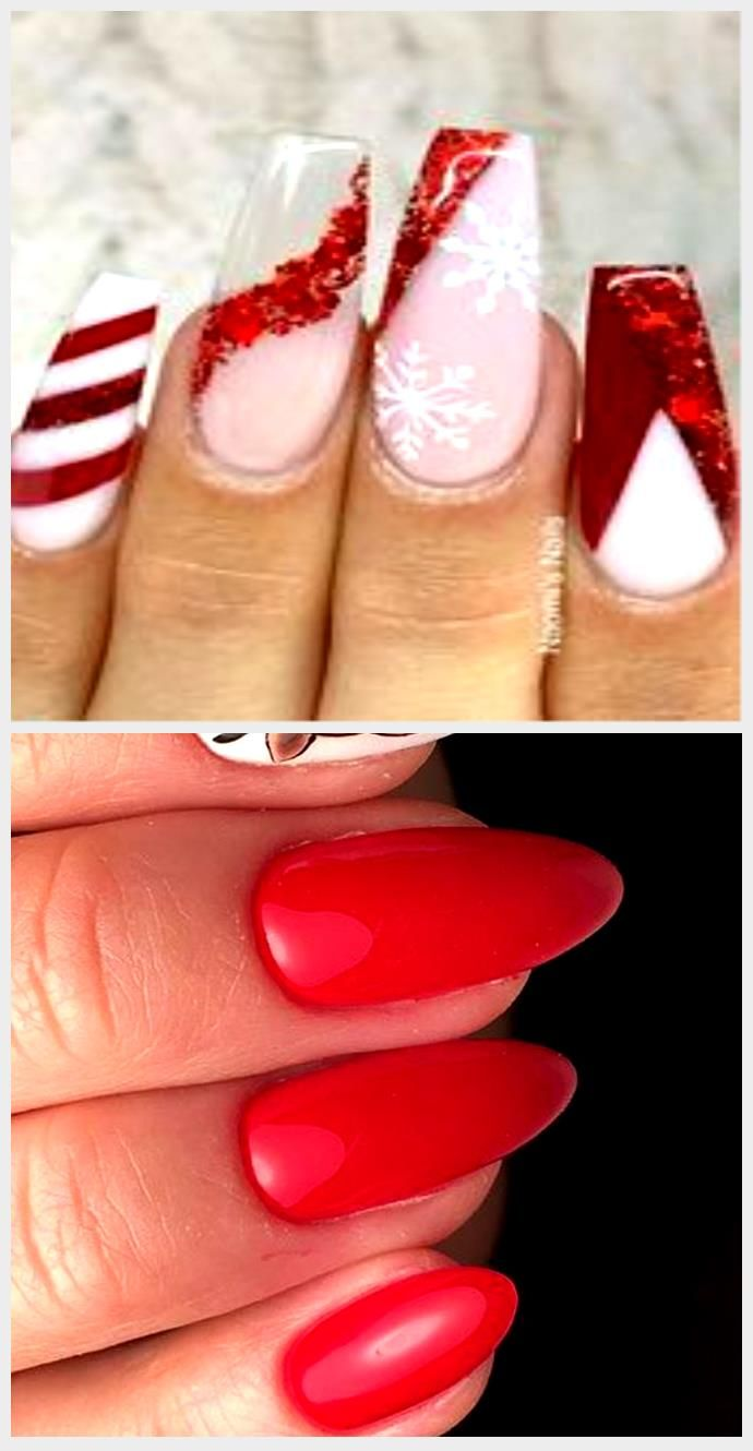 View Red Christmas Nails Coffin 2020 Pics