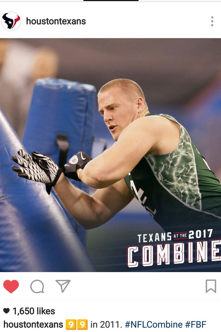 Houston Texans Instagram - 3.3.17 - #FBF - JJ in his Combine  days