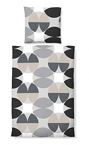 Awesome 4 Teilig Baumwoll Satin Bettwäsche Set Mit Reißverschluss 2x 155x220  Bettbezug + 2x 80x80