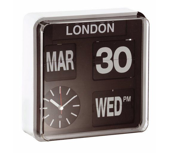 Buy Habitat Flap Small Analogue City Wall Clock at Argos.co.uk, visit Argos.co.uk to shop online for Limited stock Home and garden, Limited stock clearance