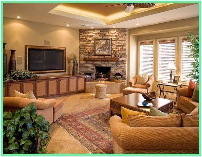 Decorating Living Room With Corner Fireplace In 2020 Corner Fireplace Living Room Living Room Furniture Layout Comfy Living Room Decor