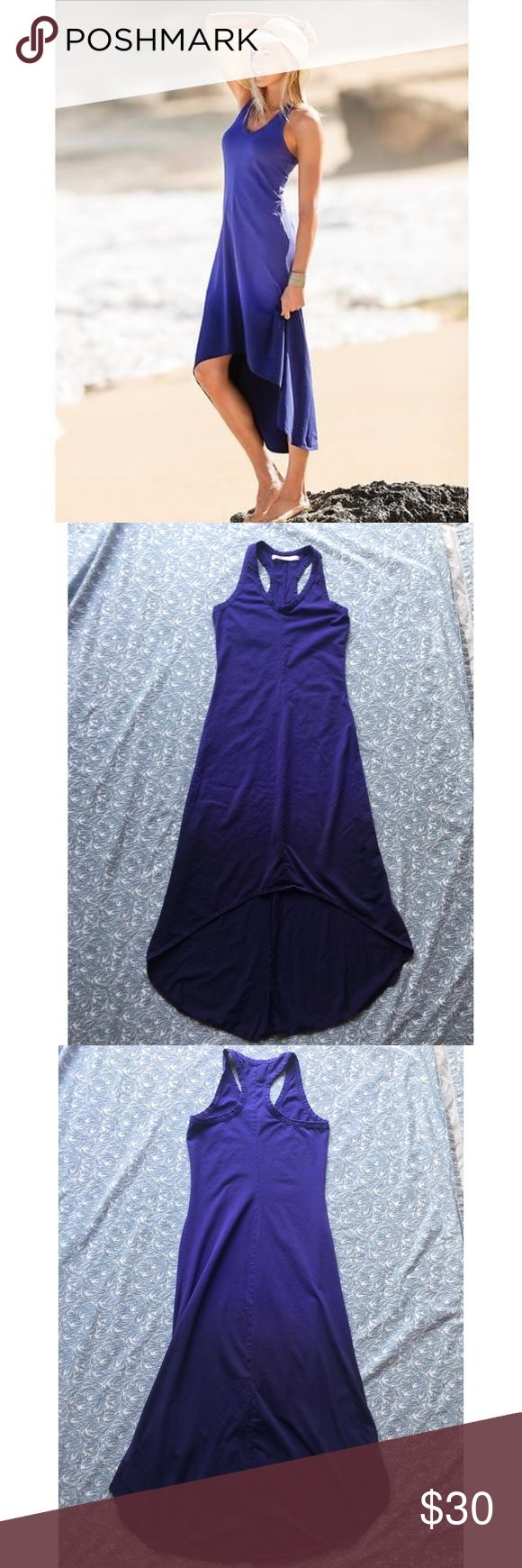 Athleta ombré high low dress Lightly worn and in great condition. Even stock photo doesn't do justice to how pretty the color of this dress is! Athleta Dresses Asymmetrical