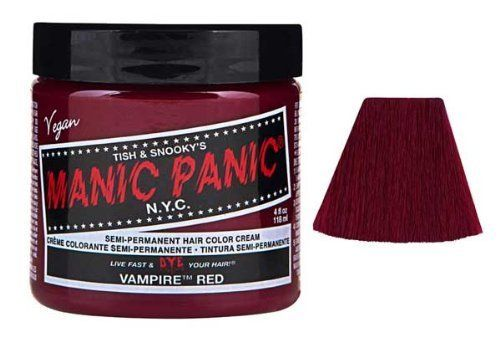 Manic Panic Vampire Red Semi Permanent Vegan Hair Dye. by HealthLand. Manic Panic Vampire Red Semi Permanent Vegan Hair Dye. Red.