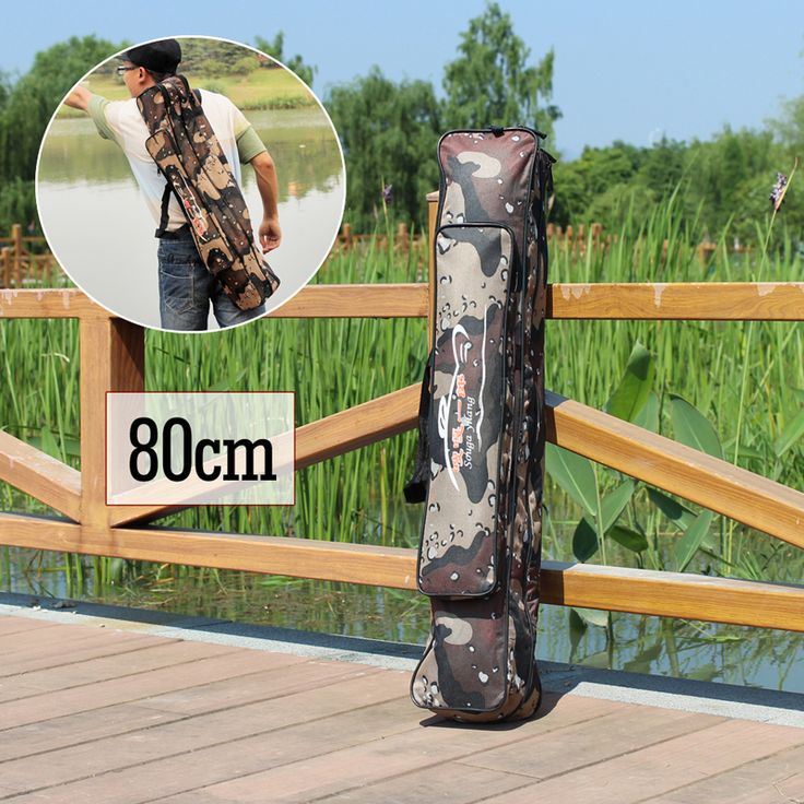 Travel Portable Fishing Tackle Bags Folding Soft Packing Handing Fishing Rods Bag Pole Gear Case