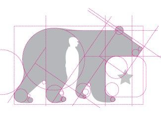 Constructional logo sketch