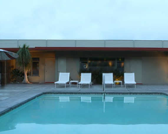 Pool Photography Mid Century Architectural 11x14 Metallic Fine Art Photography via Etsy